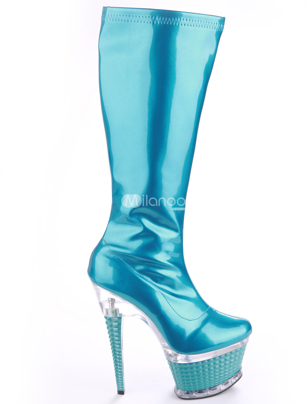 sexycoasters blue patent leather glitter zipper