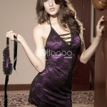 Attractive-Purple-Acrylic-Lace-Womens-Sexy-Dress-84421-2